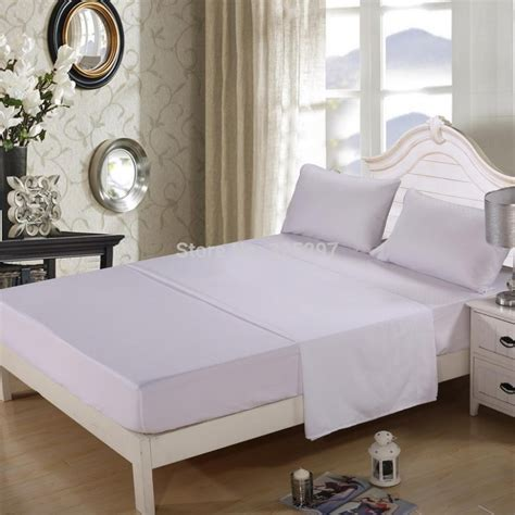 white bed sets king size white king size homehug embossed 4ps bed sheet set 100