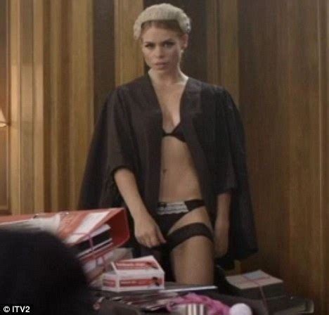 billie piper causes a stir as she dons qc's judge and gown