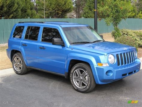 patriot jeep blue surf blue pearl 2009 jeep patriot sport exterior photo