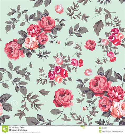 Flower Bloom by Rose Seamless Pattern Stock Images Image 35190694