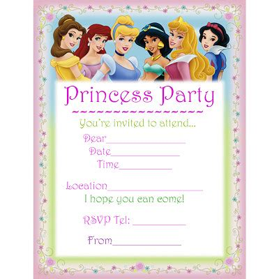 printable invitation to disney world disney princesses printable birthday invitation
