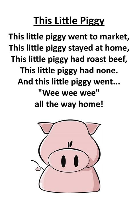 Itty Bitty Rhyme: This Little Piggy | Nursery Rhymes ...