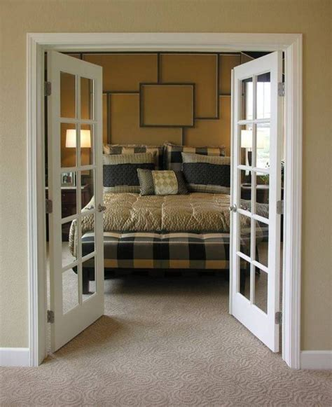 bedroom with interior french doors privacy google search
