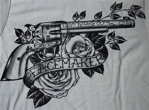 peacemaker tattoo designs details zu peacemaker shirt gun colt revolver black