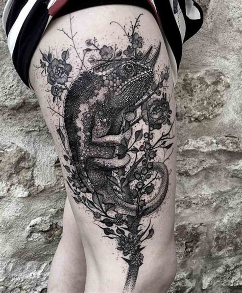 chameleon tattoos chameleon best ideas gallery