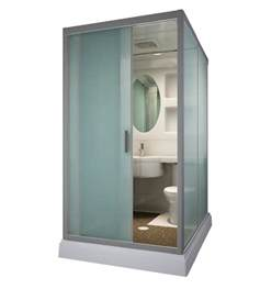 in stock sunzoom one piece bathroom modular shower room