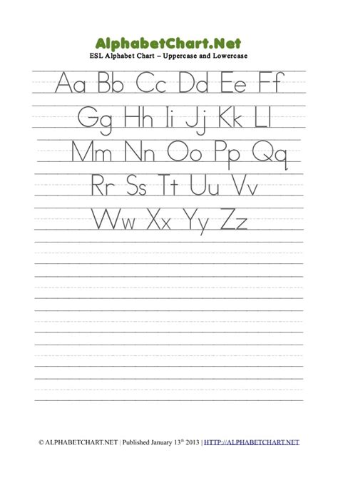 printable alphabet tracing chart lowercase alphabet charts tag alphabet chart net