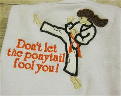 Kaos Dont Let The Ponytail Fool You martial children clothing and don t let on