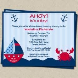 ahoy its a boy nautical theme baby shower by theinviteladyshop
