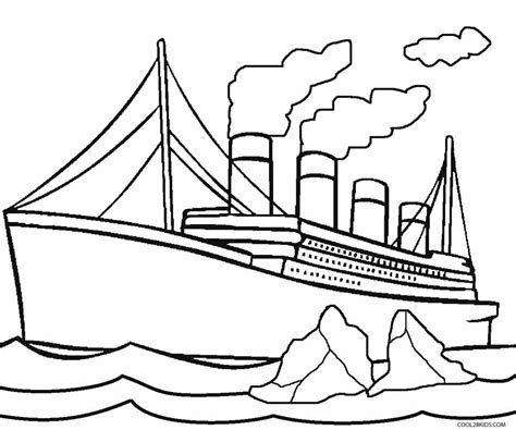 free coloring pages of titanic sinking