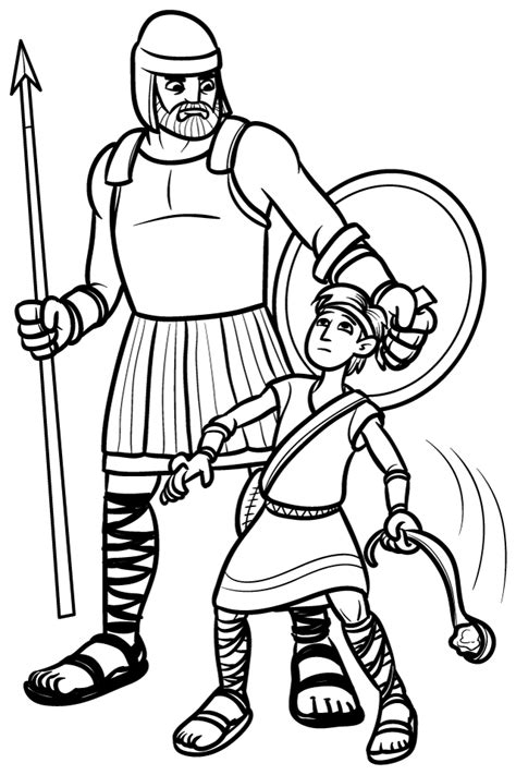 Pinning With Purpose Old Testament Quiet Book David And Goliath Coloring Page