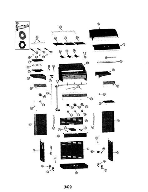 gas grill parts diagram kenmore gas grill parts model 41516657900 sears