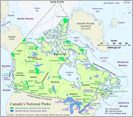 map of us and canada national parks america s treasures ecoclimax