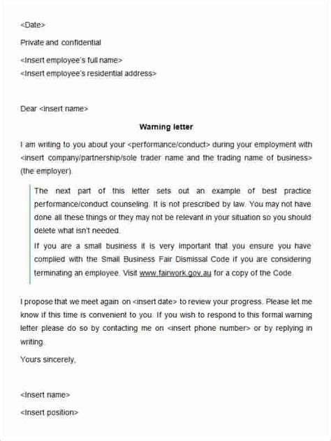 Appraisal Reconsideration Letter 23 Hr Warning Letters Free Sle Exle Format Free Premium Templates