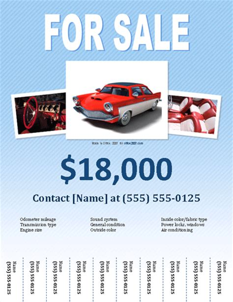 flyers for selling car archives free flyer templates