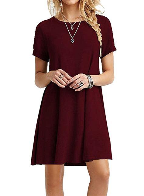 loose swing dress casual short sleeve swing t shirt loose dress azbro com