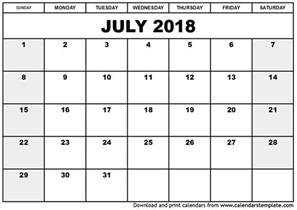 2018 Calendar Canadian Holidays July 2018 Calendar Canada 2018 Calendar With Holidays