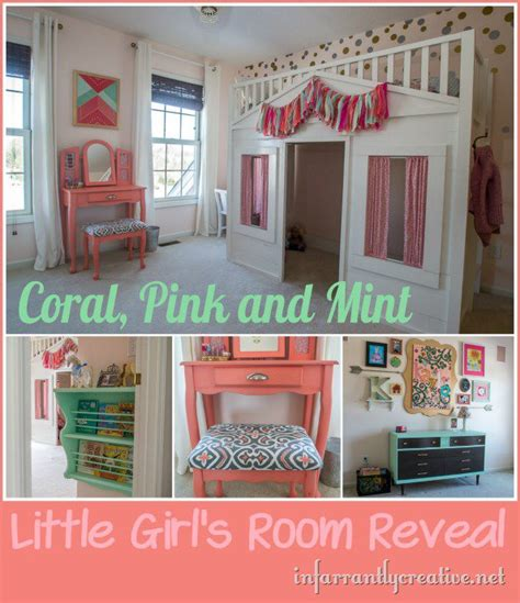 mint home decor coral mint and pink little girls room reveal infarrantly creative