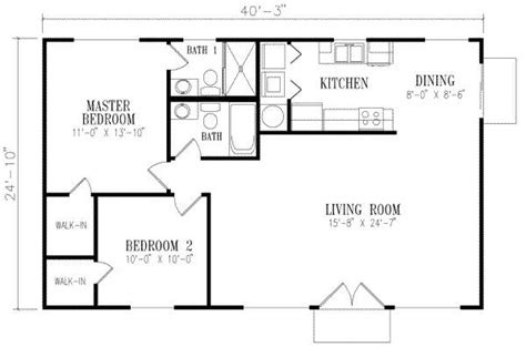 1000 square foot house 40x25 looks house designs pinterest 2 bedroom house plans house and closet