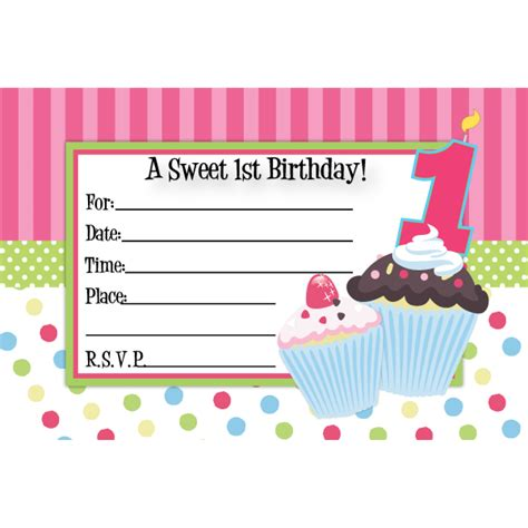 cupcake birthday invitations wblqual com
