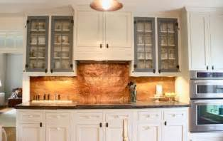 copper backsplash kitchen copper cabinets and hammered copper on