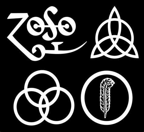 led zeppelin band logo led zeppelin iv logos complete set sticker decals zoso