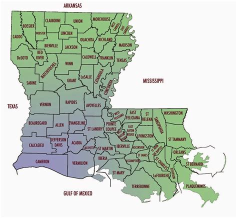 louisiana map city and parish map of louisiana free printable maps