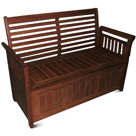 Storage Bench Outdoor Delahey 4 Outdoor Storage Bench Patio Furniture Walmart