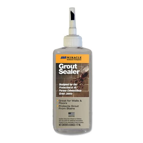 Best Bathroom Grout Sealer Shop Miracle Sealants Company Grout Sealer At Lowes