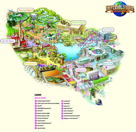 the theme park picture of universal studios singapore first look at the theme park map for universal studios