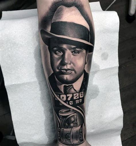 50 al capone tattoos for gangster design ideas