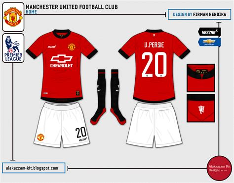 Kaos Mu Fc Warna Hitam manchester united f c home away kits kazzam