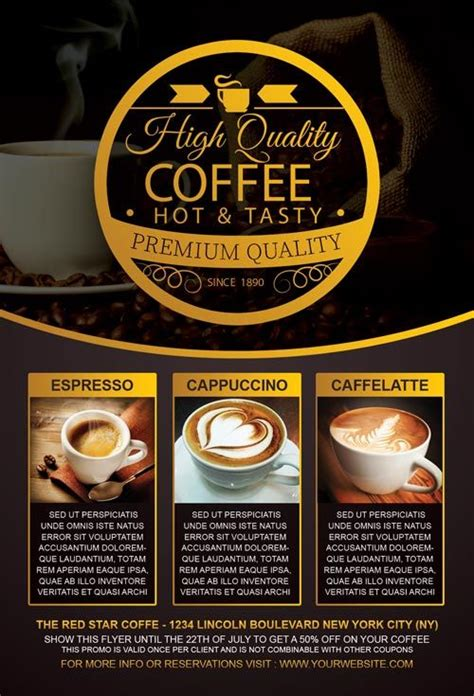 cafe flyer template coffee special promotion flyer template http