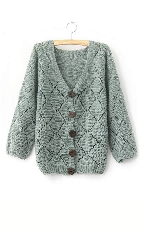 Sweet Fashion Cardigan Blackbluegrayred 21621 sweet style v neck solid color openwork checked 3 4 sleeve