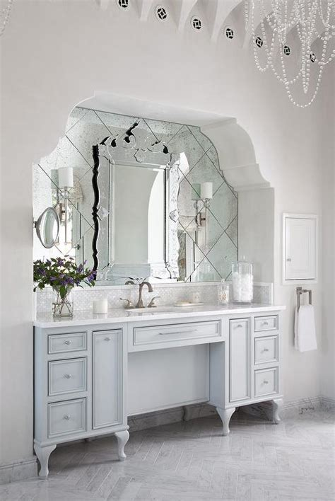 Arched Mirrors Bathroom by Arched Bathroom Alcove With Washstand And Venetian