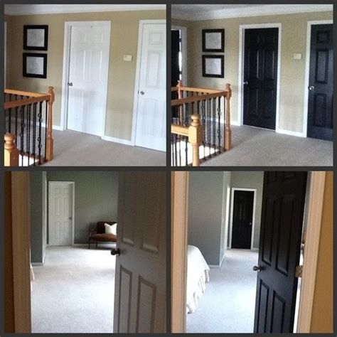Painting Interior Doors Black Before And After by Best 25 Paint Doors Black Ideas On Black