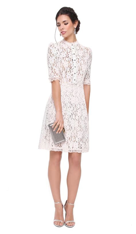 30580 Lace Dress White white lace dress by temperley hire dresses
