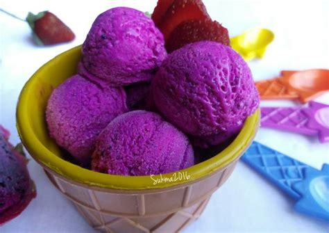 cara membuat ice cream herbal resep cara membuat es krim buah naga dengan mudah