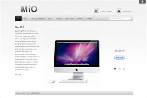 wordpress themes free download for e commerce mio theme free responsive e commerce wordpress theme