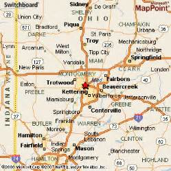 Centerville Ohio Map by Dayton Ohio