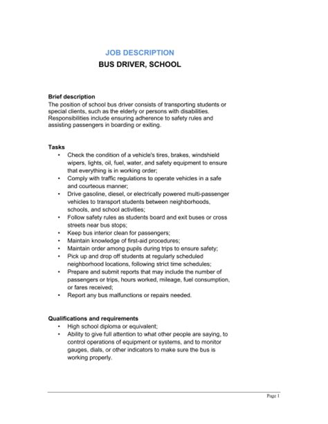 driver school description template sle form biztree