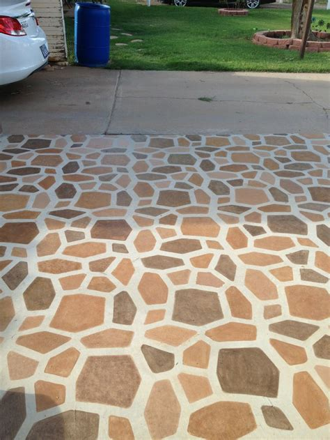 Grouting Patio by Stained Patio Stones Using A Path Mold Then Painted Grout