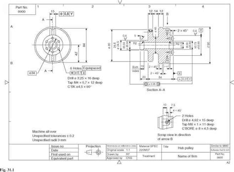 dimensioning and sectioning in engineering drawing production drawings engineering drawing joshua nava arts
