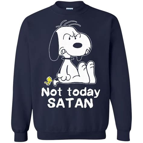 Hoodie Sweater Why Not Hitam Cloth snoopy t shirts not today satan hoodies sweatshirts clothing snoopy and sweatshirt
