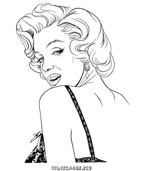 marilyn step by step coloring pages