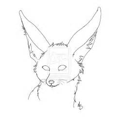 Fox Drawing Outline by Fennec Fox Outline By Mjsr4ever On Deviantart