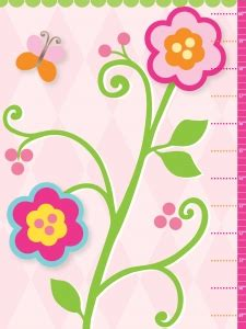Growth Chart Flower 150cm flowers growth chart activity books growth charts