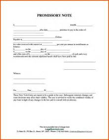 Promissory Note Template by Free Promissory Note Template Templatezet