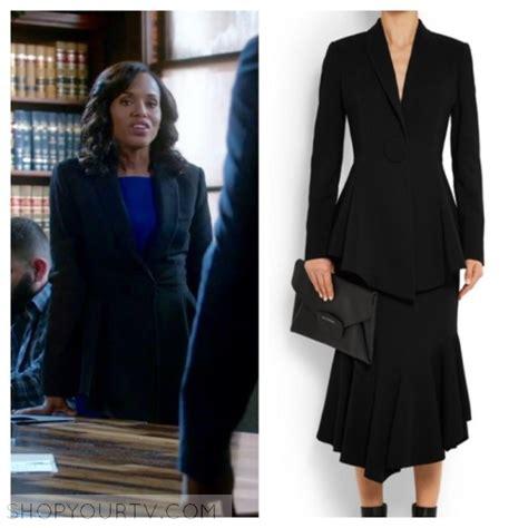 Pope Wardrobe Grey Coat by Season 5 Episode 17 S Black Peplum Blazer