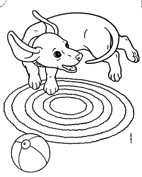 weiner dog coloring pages coloring home